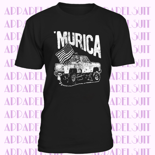 Monster Truck Shirt, Murica Flag Shirt, Independence Day Truck Shirt, 4th Of July Beer Drinking Shirt, America Patriotic Shirt