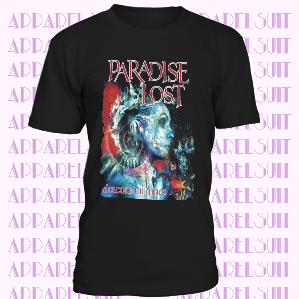 PARADISE LOST DRACONIAN TIMES DOOM DEATH GOTHIC METAL NEW BLACK T-SHIRT