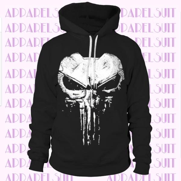Activewear Punisher Skull Hooded Sweater Running Autumn Sweatshirts Hoodies Tops