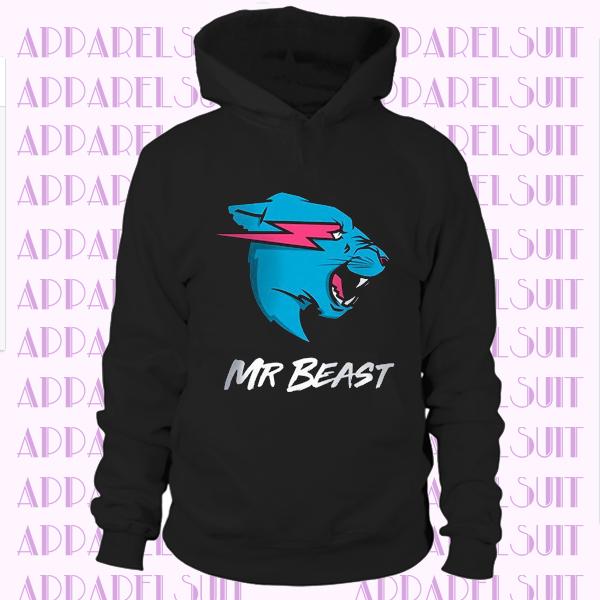 Mr Beast Hoodie Youtuber Kids Mister Beast Sweatshirt MrBeast Shirt Tiger Logo Quality Shirt for Youth & Adult Birthday Present Gift