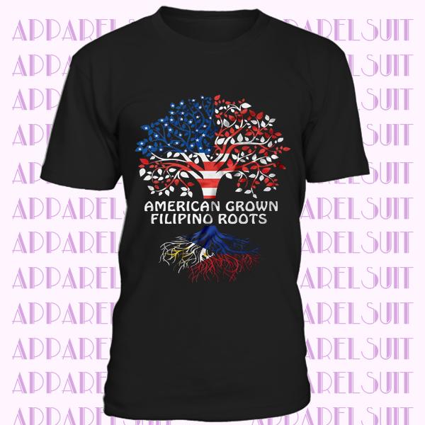 Philippines T-shirt American grown Filipino Roots Culture heritage Diaspora Tee shirt Filipino heritage Tee Shirt