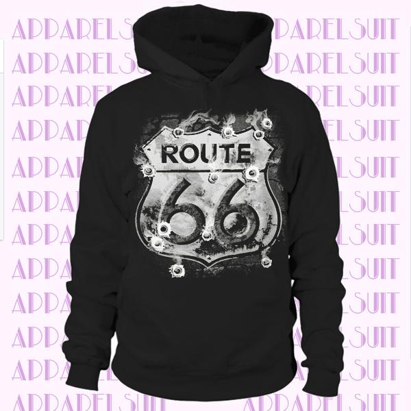 Mens Hotrod 58 Hot Rod Historic Route 66 Sign American Classic Road